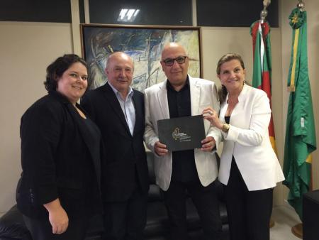 Luia e Marta Rossi convidam Secretário para Fórum de Turismo