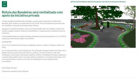 Solicitada prestação de contas sobre os investimentos na Praça Leopoldo Rosenfeld