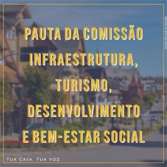 Agenda da Comissão de Infraestrutura, Turismo, Desenvolvimento e Bem-Estar Social