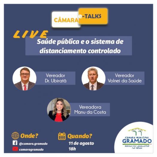 Live sobre Saúde será realizada pela Câmara de Gramado